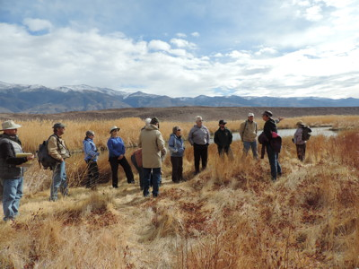 Field trip group at Fish Slough